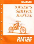 Official 1997 Suzuki RM125V Factory Owners Service Manual