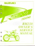 Official 1999 Suzuki RM250X Factory Service Manual