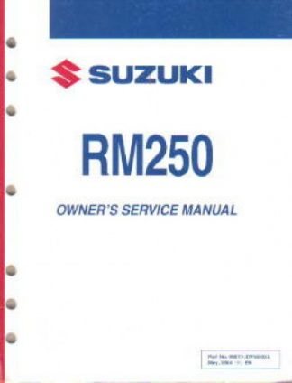 2008 Suzuki Rm250 K8 Motorcycle Owners Service Manual border=