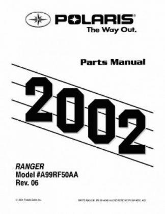 Official 1999-2002 Polaris RANGER 6x6 Factory Parts Manual