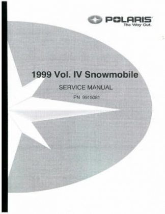 Official 1999 Polaris Snowmobile Factory Service Manual