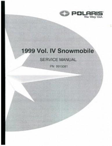 Official 1999 Polaris Snowmobile Factory Service Manual