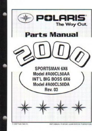 2000 Polaris Xpedition 325 Atv Parts Manual