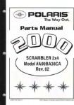 Official 2000 Polaris Scrambler 400 2x4 Parts Manual
