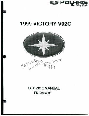 Official 1999 Victory Standard Cruiser Factory Service Manual
