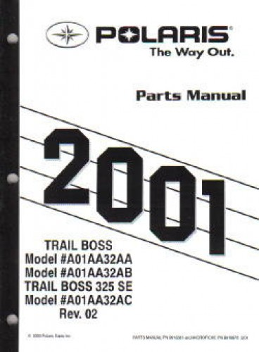 2001 Polaris Trail Boss 325 Parts Manual border=
