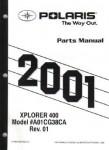 Official 2001 Polaris Xplorer 400 ATV Parts Manual