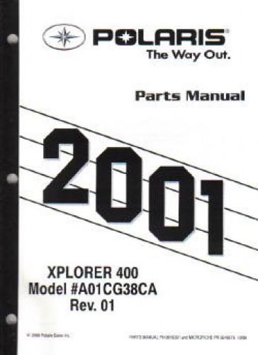 2001 polaris xplorer 400 atv parts manual