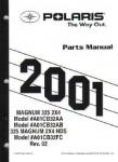 Official 2001 Polaris Magnum 325 2X4 Parts Manual