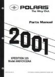 Official 2001 Polaris Xpedition 325 Parts Manual