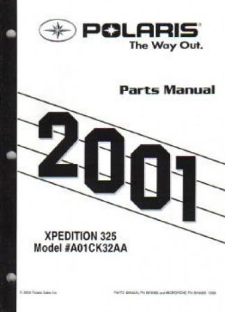 Official 2001 Polaris Xpedition 325 Parts Manual