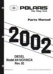 Official 2001 Polaris Diesel 455 4X4 Series 10 Parts Manual