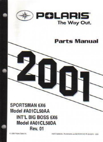 2001 polaris sportsman 6x6 and big boss 6x6 parts manual