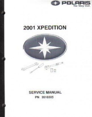 Official 2001 Polaris Xpedition 325 425 Factory Service Manual