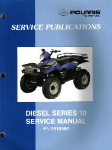 2000 2001 polaris diesel 455 4x4 series 10 atv service manual rh repairmanual com Polaris Diesel ATV Polaris Ranger Diesel
