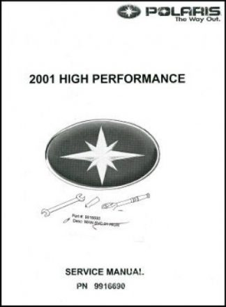 Official 2001 Polaris High Performance Snowmobile Service Manual