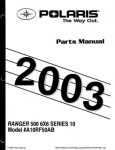 Official 2003 Polaris Ranger Series 10 6x6 Series 10 Factory Parts Manual