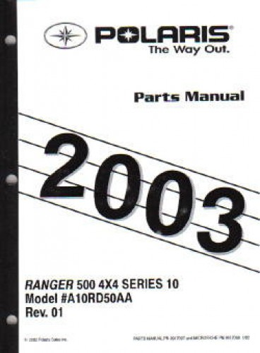 2003 Polaris Ranger Series 10 4 U00d74 Parts Manual