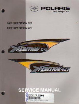 Official 2002 Polaris XPEDITION 325 425 Factory Service Manual