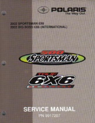 Official 2002 Polaris 6X6 Factory Repair Manual