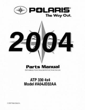 Official 2004 Polaris ATP 330 4x4 Factory Parts Manual