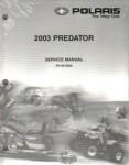 Official 2003 Polaris Predator 500 Factory Service Manual on CD-ROM