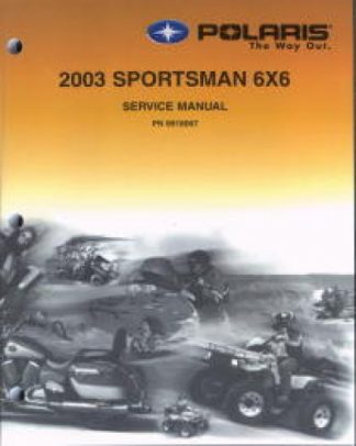 Official 2003 Polaris Sportsman 6x6 Factory Service Manual