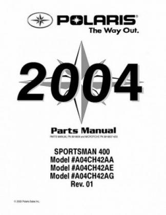 Official 2004 Polaris SCRAMBLER 400 Factory Parts Manual