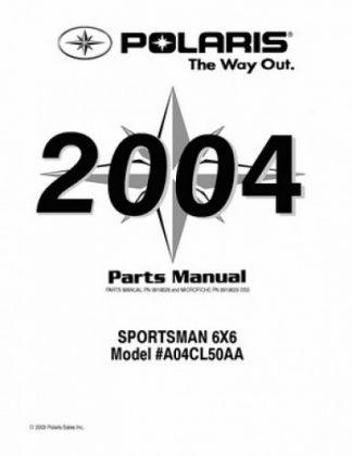 Official 2004 Polaris SPORTSMAN 6X6 Factory Parts Manual