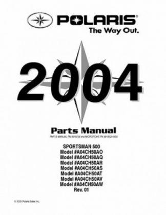 Official 2004 Polaris SCRAMBLER 500 Factory Parts Manual