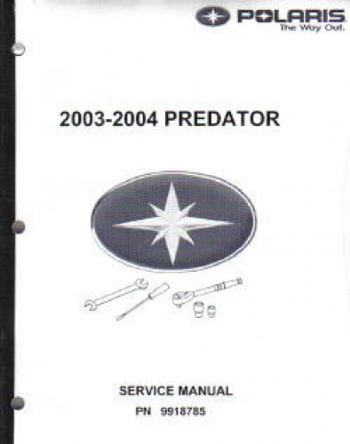 2003 2004 polaris predator 500 service manual rh repairmanual com 2004 polaris predator 500 owners manual 2004 polaris predator 500 repair manual