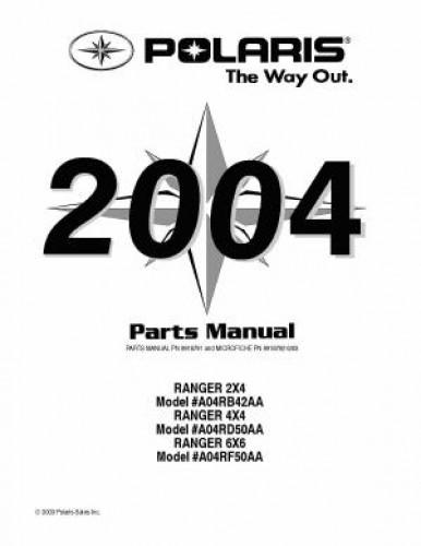 2004 polaris ranger series 11 2x4 4 u00d74 6 u00d76 parts manual