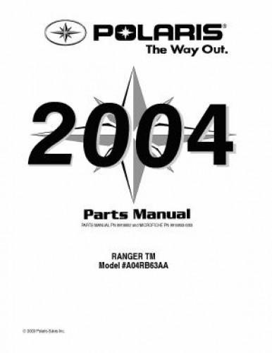 2004 polaris ranger tm parts manual