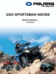2005 Polaris Sportman 400 500 Repair Manual