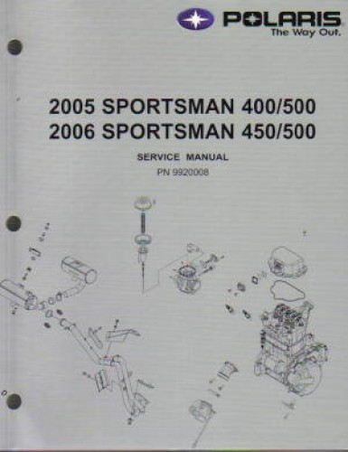 2005 2006 polaris sportsman 400 450 500 atv repair manual. Black Bedroom Furniture Sets. Home Design Ideas