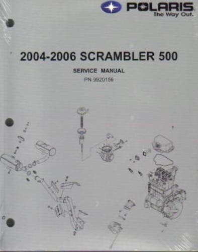 2004 2006 Polaris Scrambler 500 Atv Workshop Manual