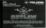Official 2006 Polaris Outlaw 500 Owners Manual