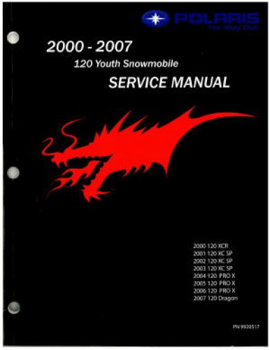 Official 2007 Polaris 120 Snowmobile Factory Service Manual