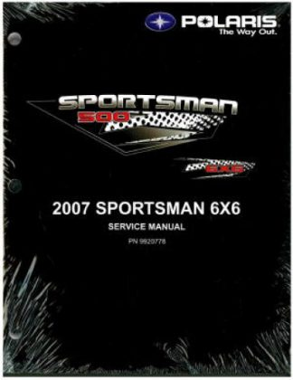 Official 2007 Polaris Sportsman 6 X 6 Factory Service Manual
