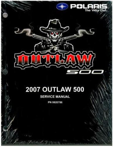 2007 Polaris Outlaw 500 Service Manual border=