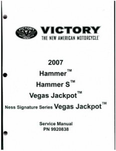 Official 2007 Victory Hammer and Jackpot Factory Service Manual