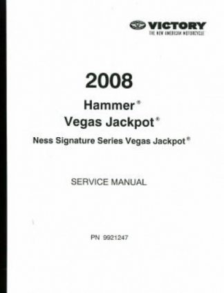 Used Official 2008 Victory Hammer Jackpot Factory Service Manual