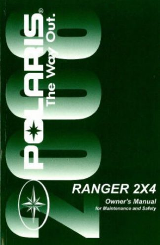 Official 2008 Polaris Ranger 2X4 500 Carb Factory Owners Manual