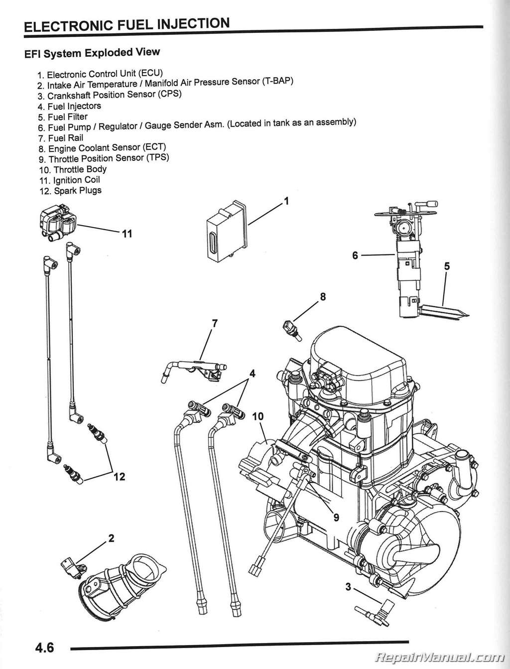 Polaris Engine Diagram Change Your Idea With Wiring Design 250 2008 Ranger Rzr 800 Side By Service Manual Rh Repairmanual Com 500