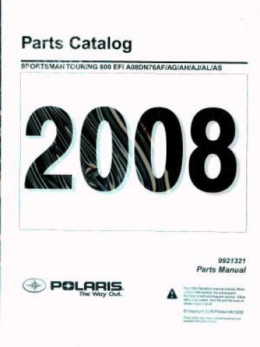 Official 2008 Polaris Sportsman Touring 800 EFI Factory Parts Manual