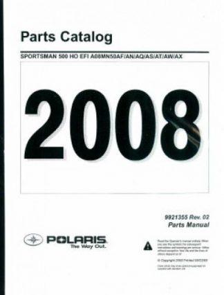 Official 2008 Polaris Sportsman 500 EFI Factory Parts Manual