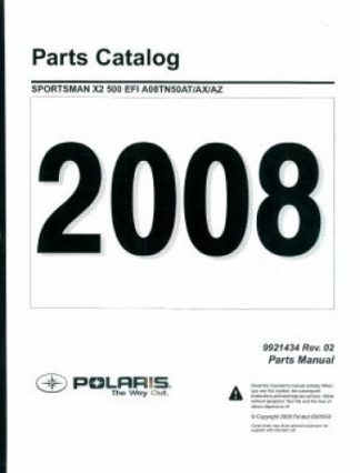 Official 2008 Polaris Sportsman X2 500 EFI Factory Parts Manual