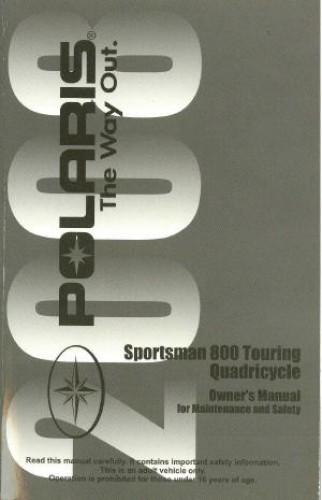 Official 2008 Polaris Sportsman Touring 800 EFI International Owners Manual