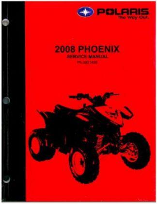 Official 2008 Polaris Phoenix Quadricycle 200 Factory Service Manual