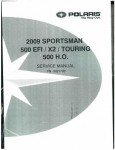 Official 2009 Polaris Sportsman 500 ATV Factory Service Manual